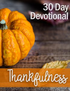 Devotional: Thankfulness