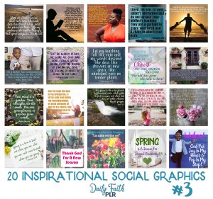 Inspirational PLR Social Graphics: Spring Set